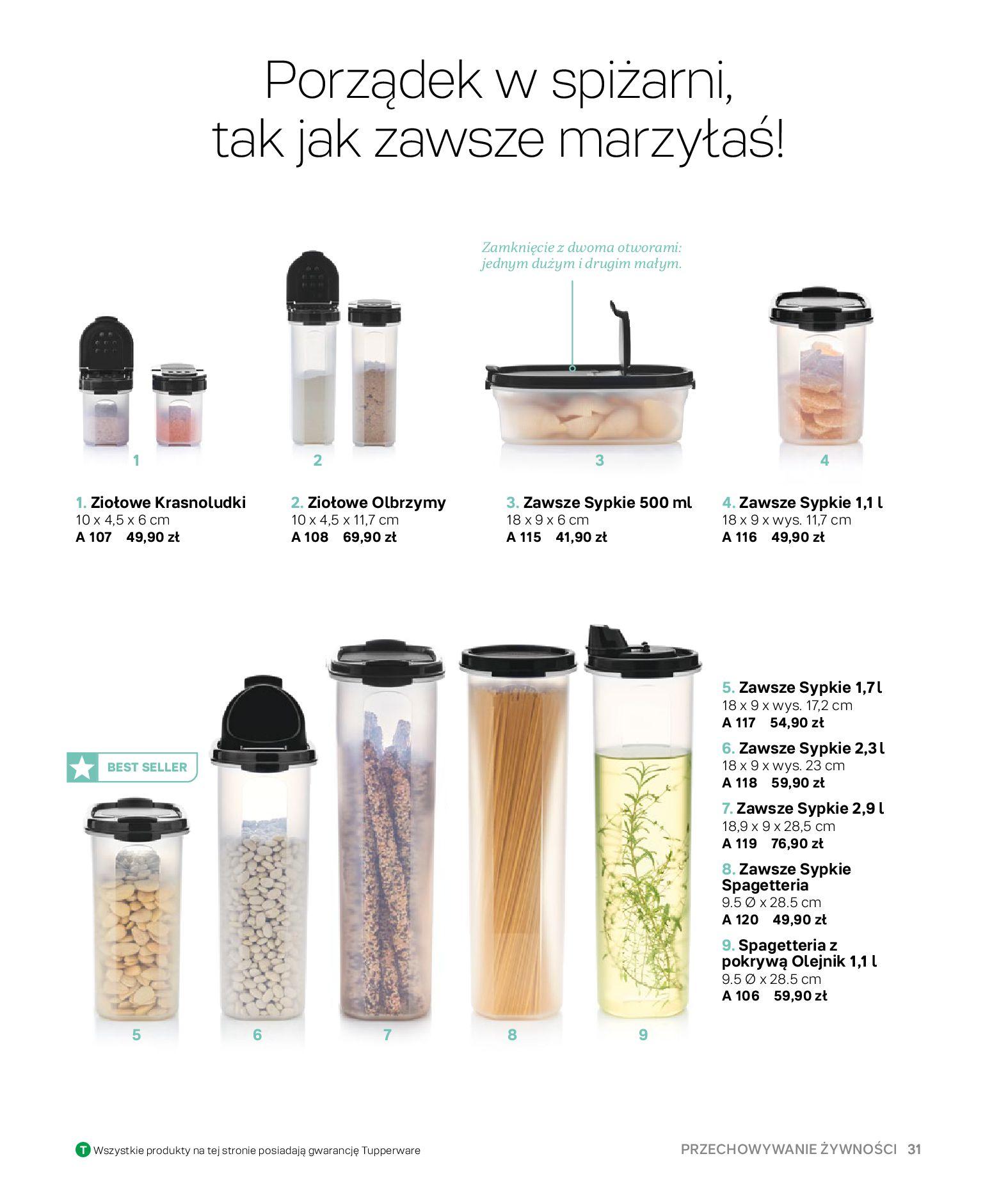 Gazetka Tupperware: Gazetka Tupperware - Katalog wiosna/ lato 2021-05-10 page-31