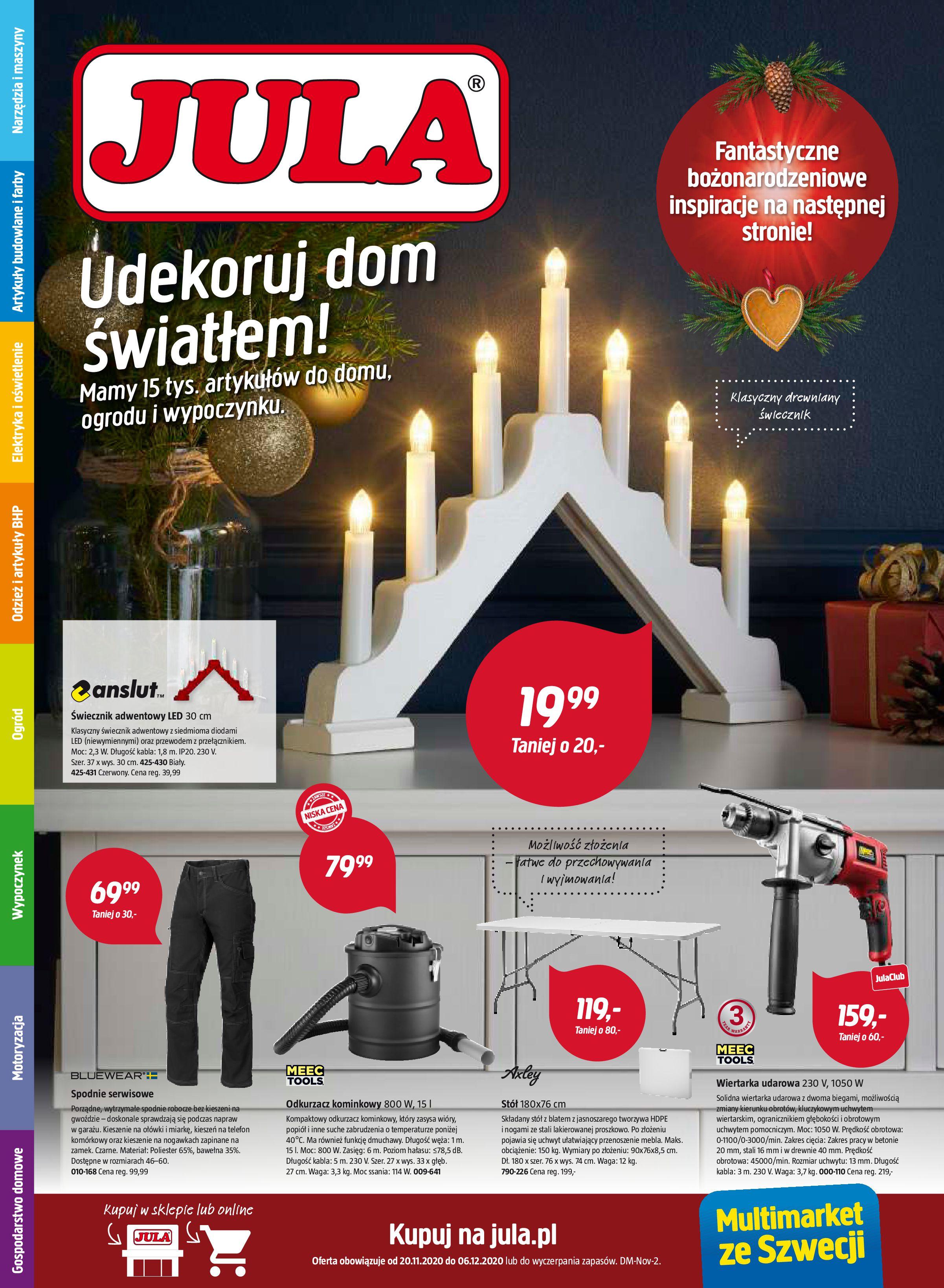 Gazetka Jula: udekoruj dom światłem 2020-11-21 page-1