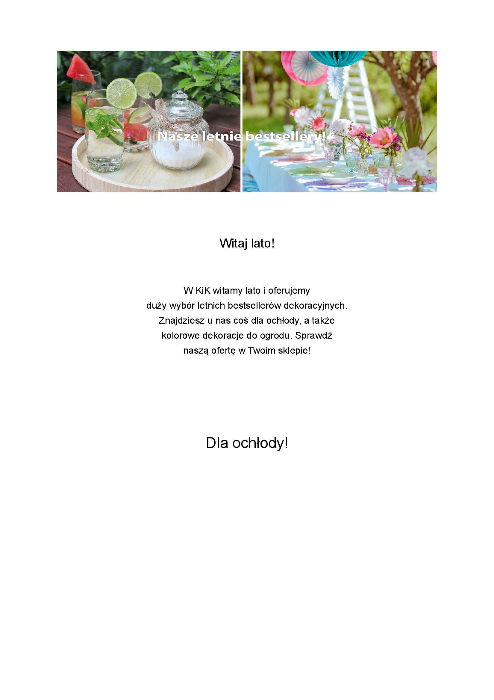 KiK:  Gazetka KiK - Letnie bestsellery 05.07.2021