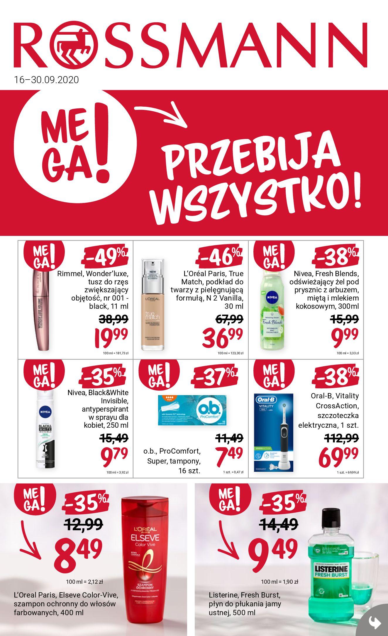 Gazetka Rossmann - Gazetka promocyjna-15.09.2020-30.09.2020-page-1