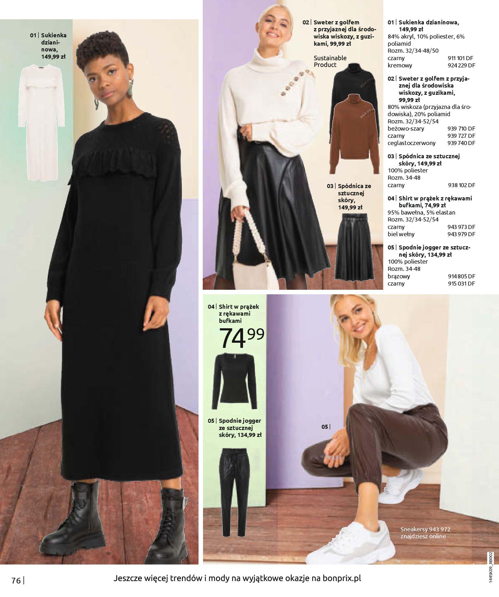 Gazetka Bonprix: Katalog Bonprix - Wolne chwile w wielkim stylu 2021-09-09 page-78