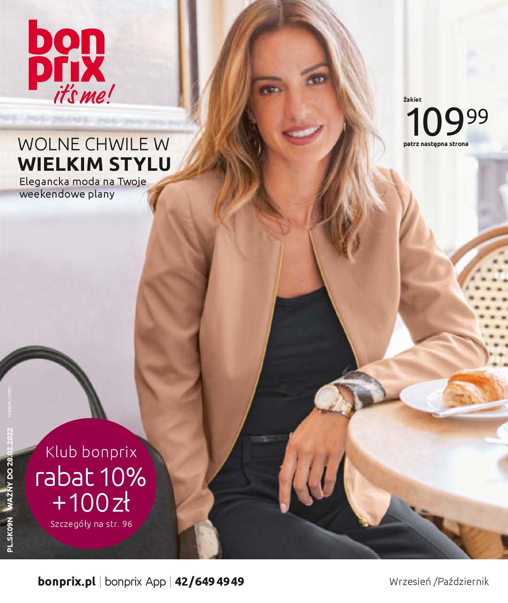 Gazetka Bonprix: Katalog Bonprix - Wolne chwile w wielkim stylu 2021-09-09 page-1