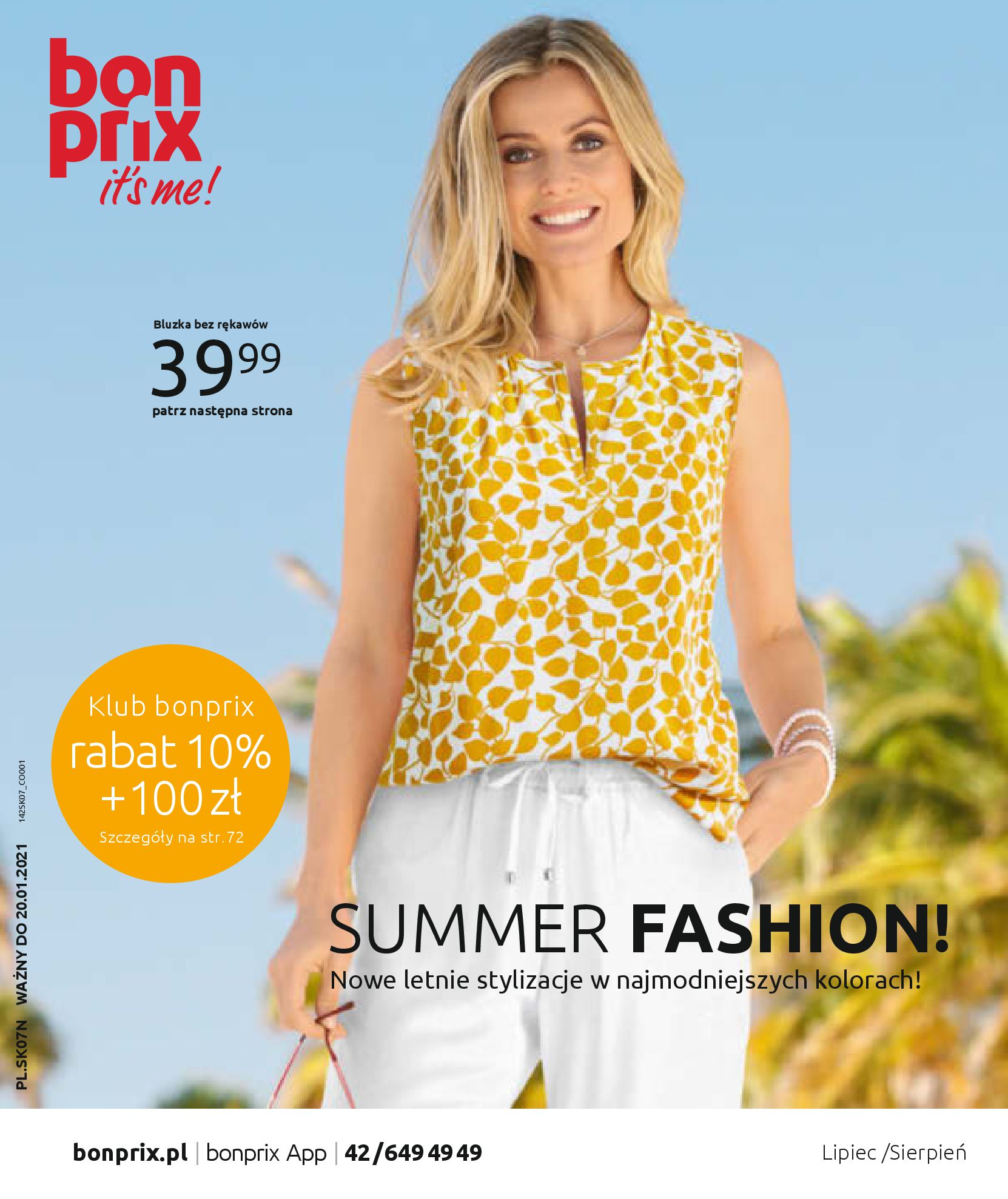 Gazetka Bonprix: SUMMER FASHION! 2020-08-26 page-1