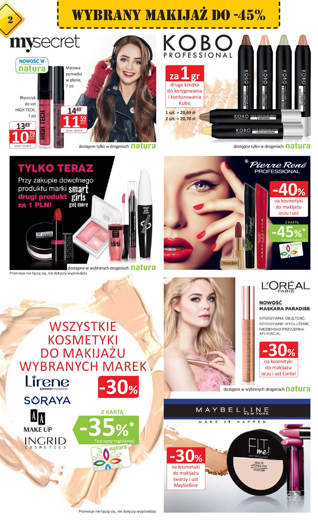 Gazetka Drogerie Natura - Oferta na artykuły kosmetyczne-03.01.2018-17.01.2018-page-2