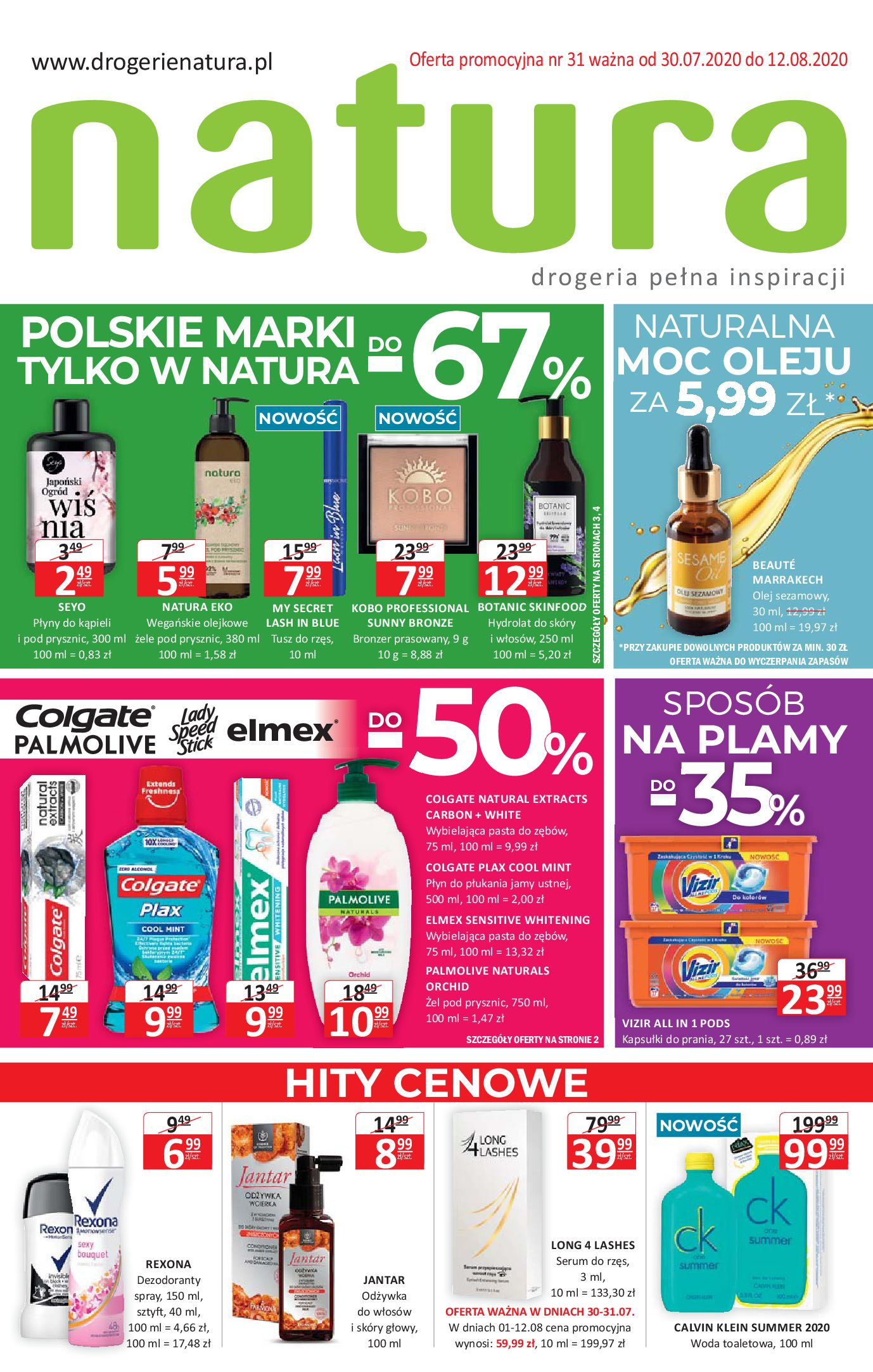 Gazetka Drogerie Natura - Oferta handlowa-29.07.2020-12.08.2020-page-1