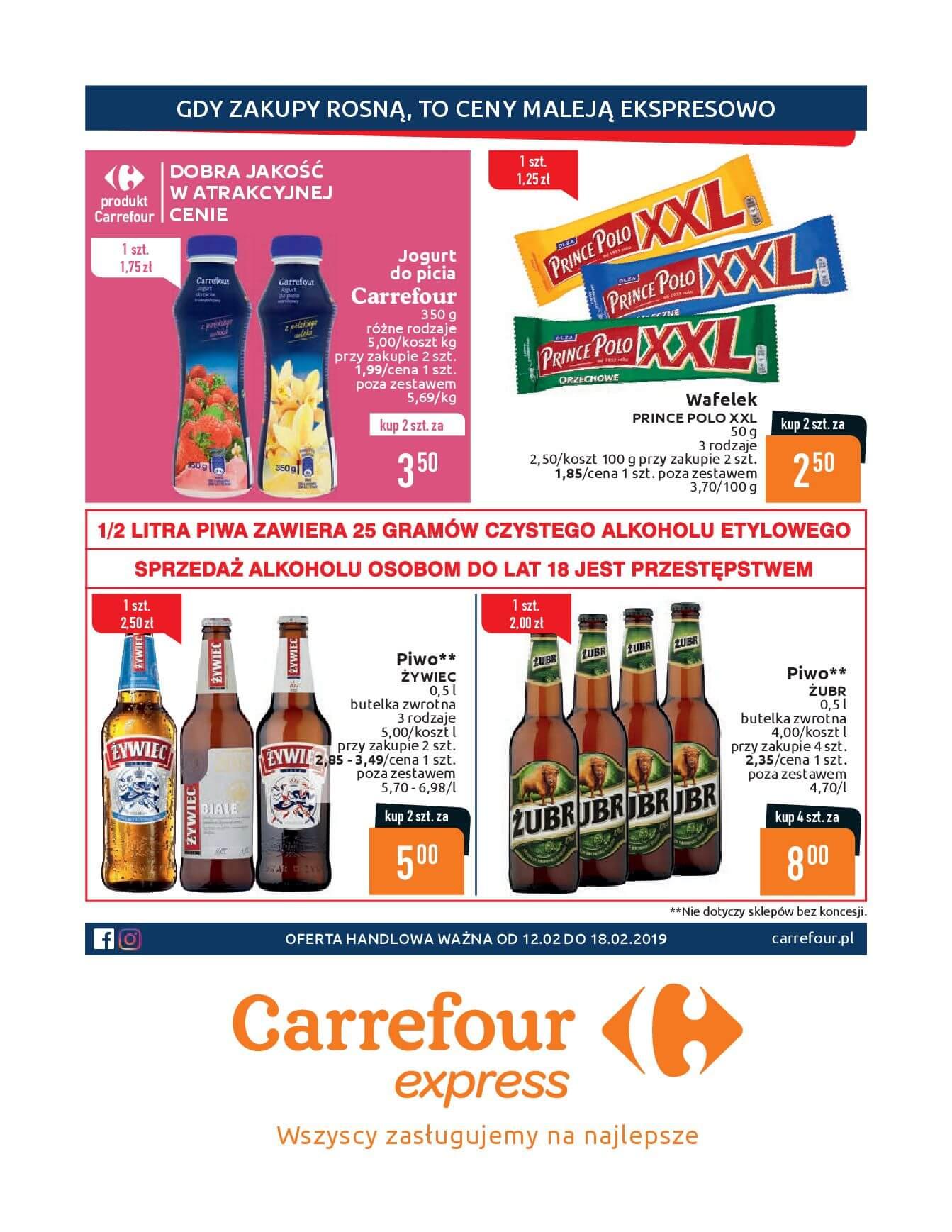 Gazetka Carrefour Express - Gdy zakupy rosną, to ceny maleją ekspresowo-11.02.2019-18.02.2019-page-