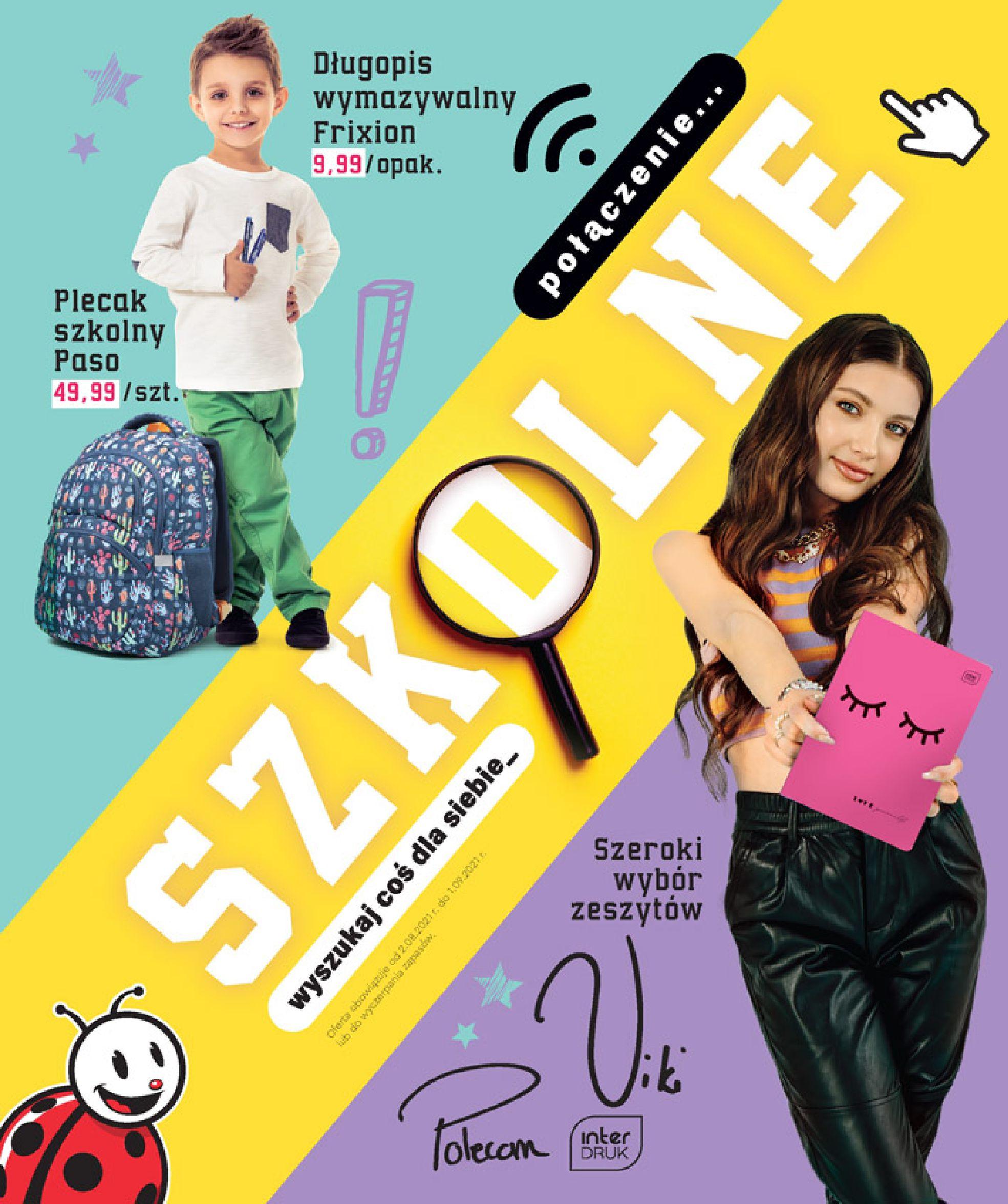Biedronka:  Gazetka Biedronka - Szkoła 01.08.2021