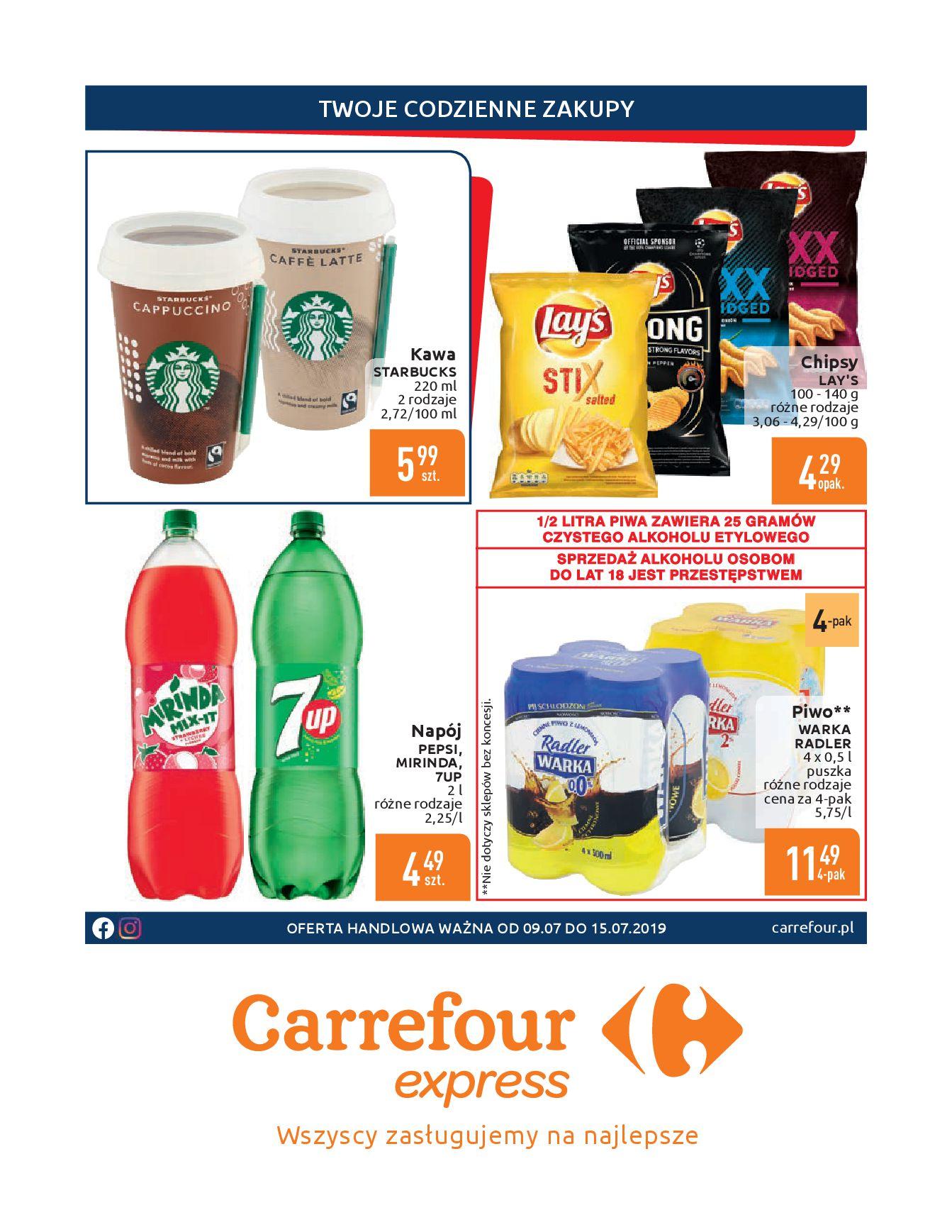 Gazetka Carrefour Express - Gdy zakupy rosną, to ceny maleją ekspresowo-08.07.2019-15.07.2019-page-