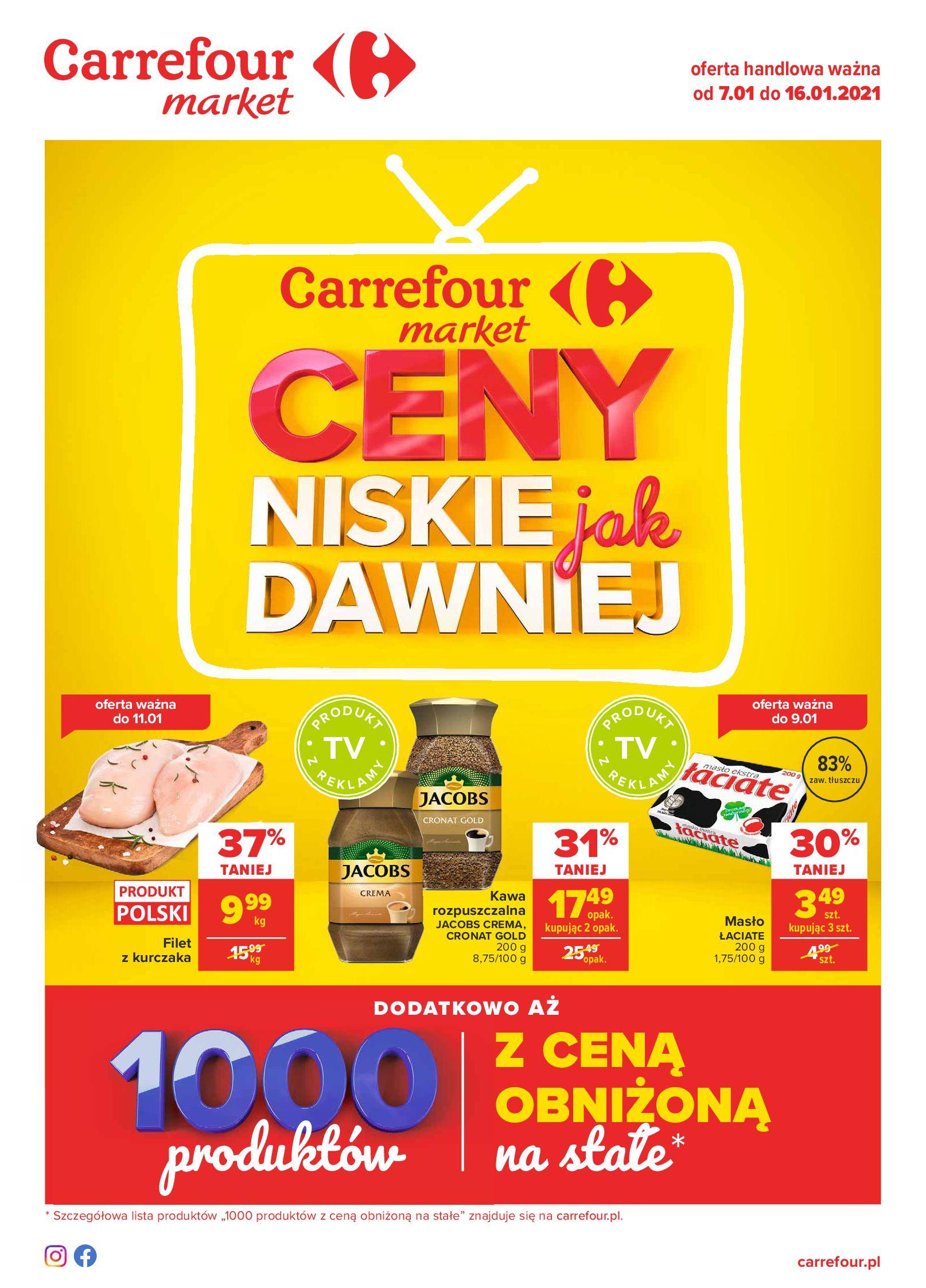 Carrefour Market:  Ceny niskie jak dawniej - Market 06.01.2021