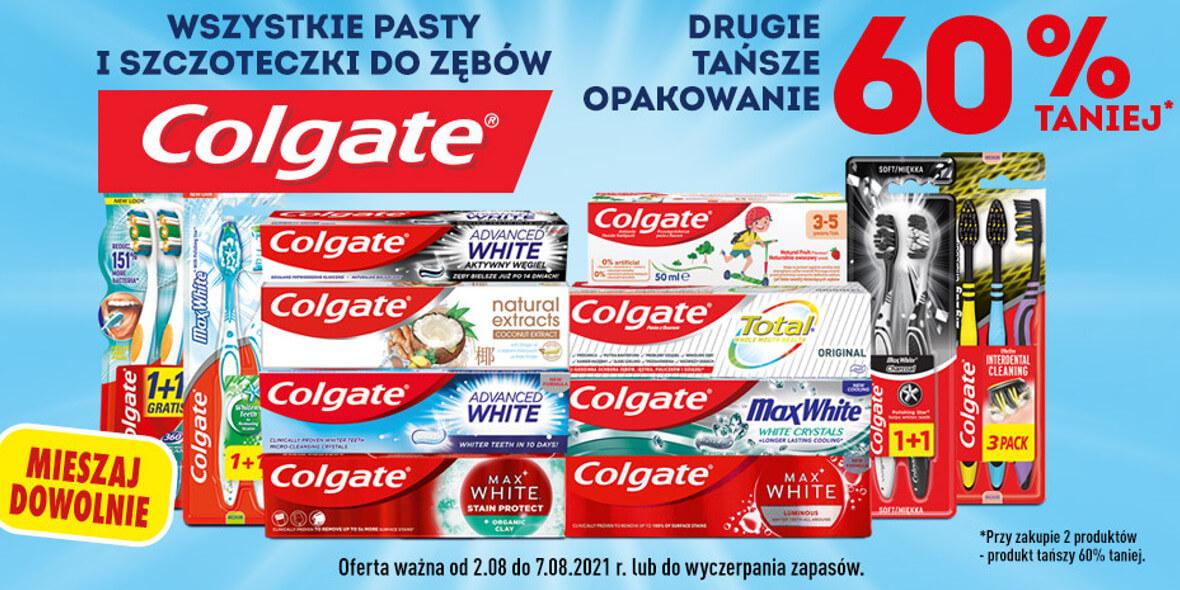 Biedronka:  -60% na drugi tańszy produkt Colgate 03.08.2021