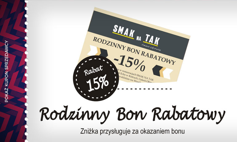 -15% na następne zakupy