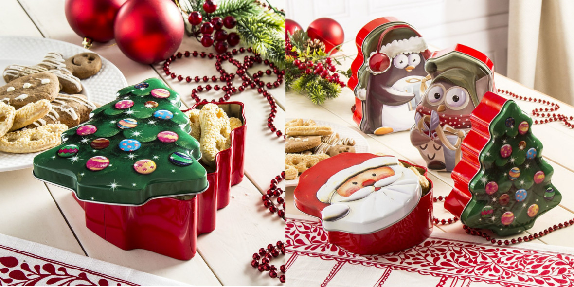 za puszki świąteczne na ciastka i pierniki