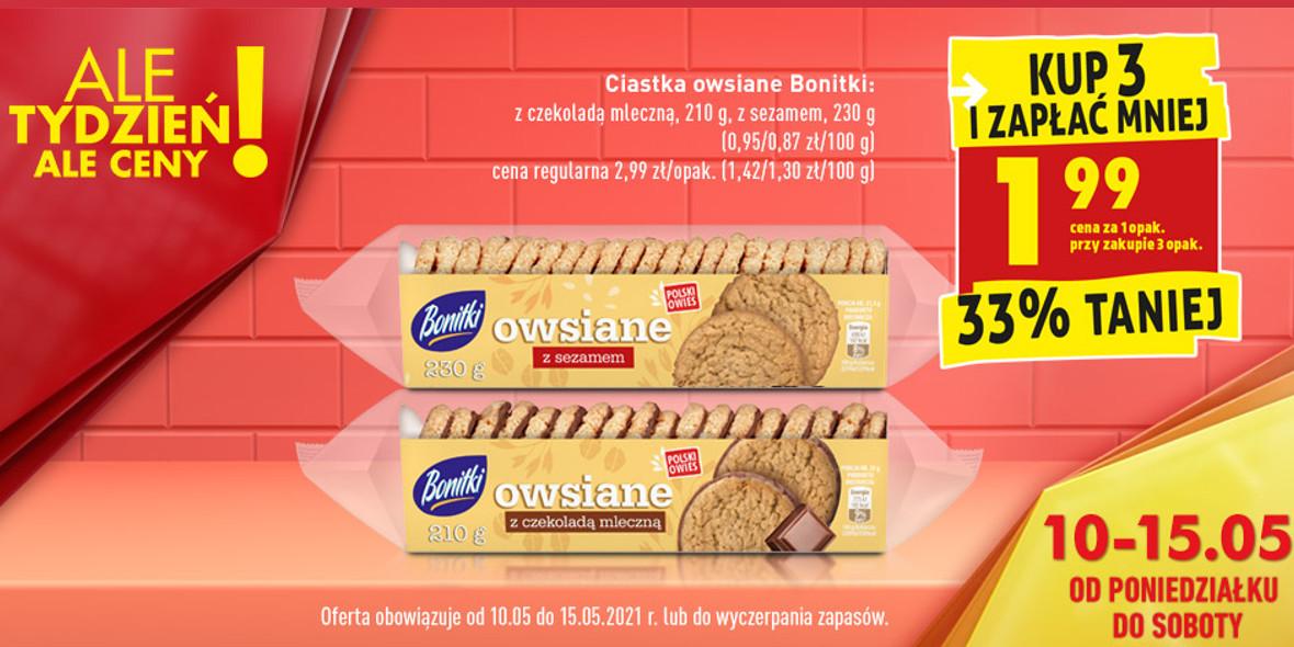 Biedronka:  -33% na ciastka owsiane Bonitki 10.05.2021