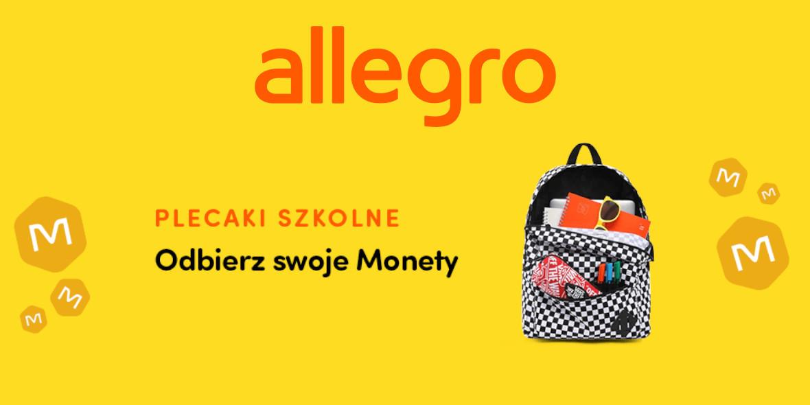 Allegro: Monety za zakup plecaka 19.08.2021