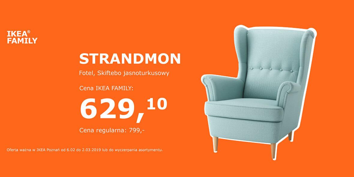 za fotel STRANDMON z kartą IKEA FAMILY