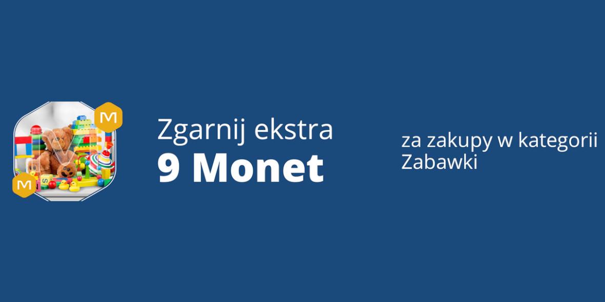 Allegro: +9 Monet przy zakupach w kategorii Zabawki 19.09.2021