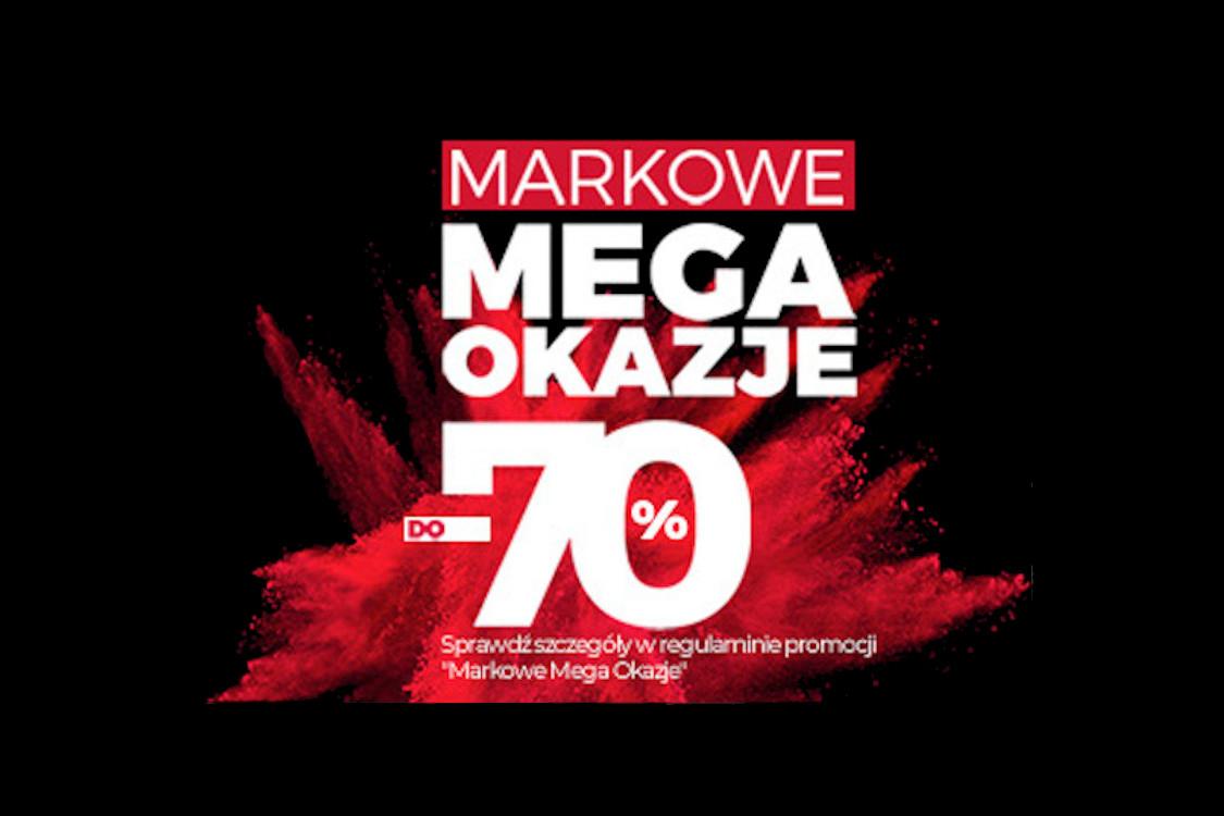 Do -70% Markowe Mega Okazje