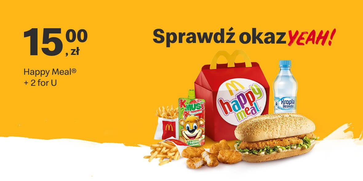 za Happy Meal® + 2 for U