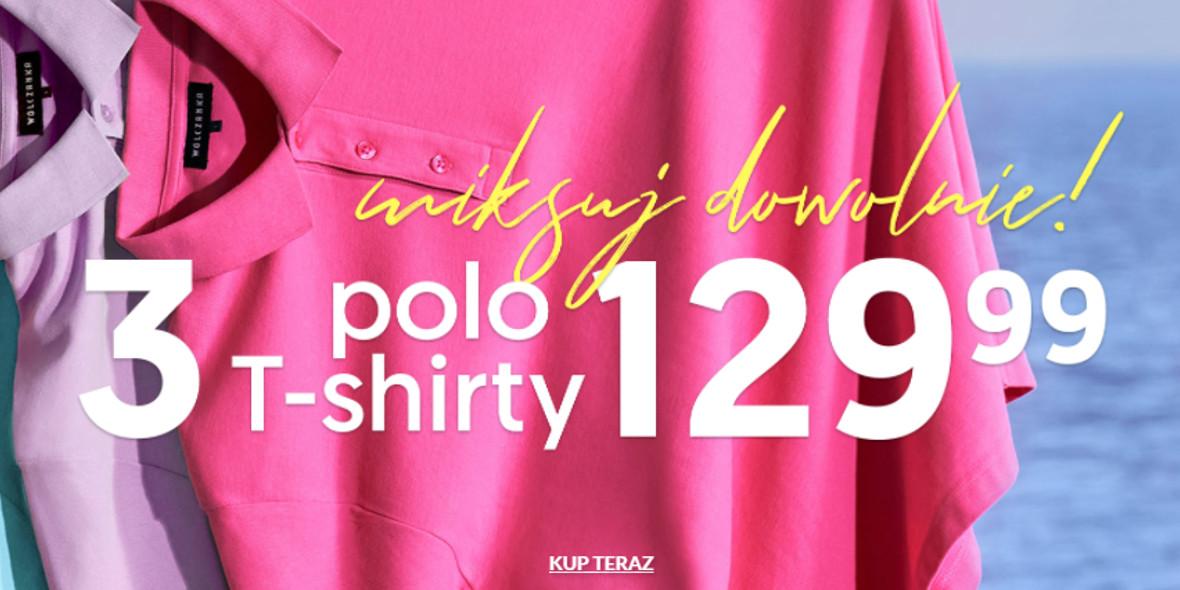 Wólczanka: 129,99 zł za 3 T-shirty, Polo
