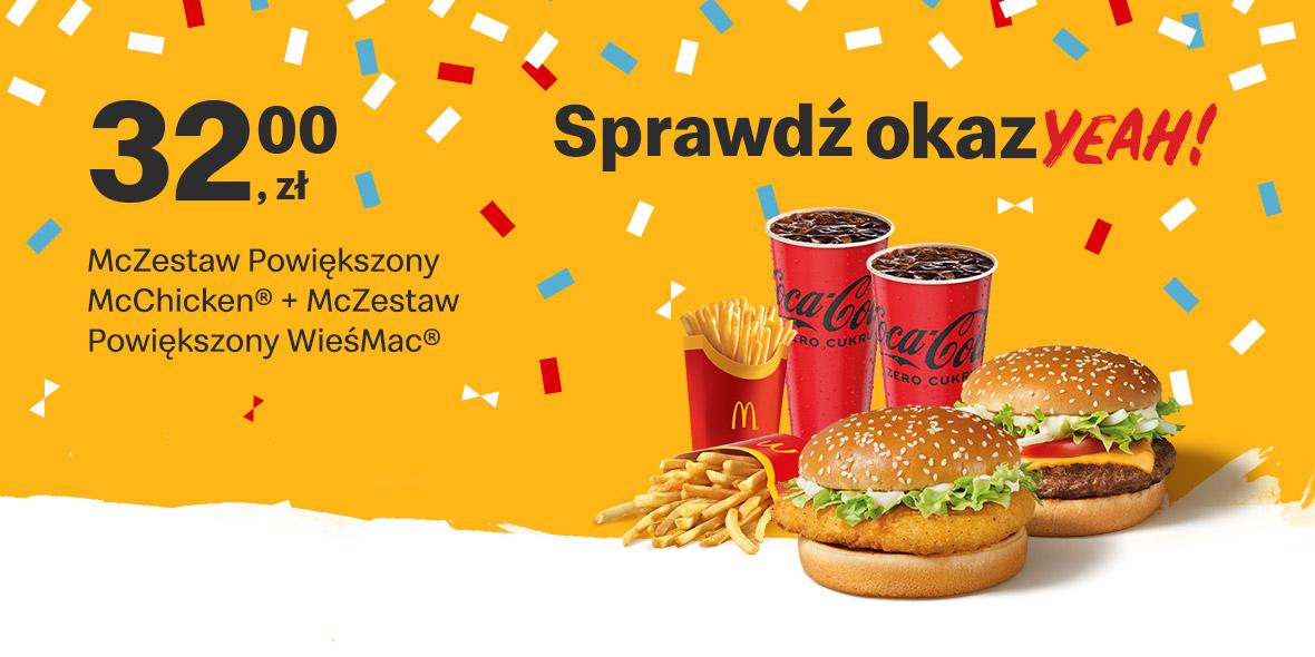 McDonald's:  32 zł McZestaw Powiększony 17.05.2021