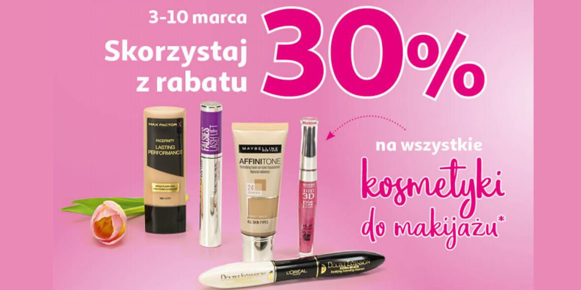 Auchan: -30% na wszystkie kosmetyki do makijażu 03.03.2021