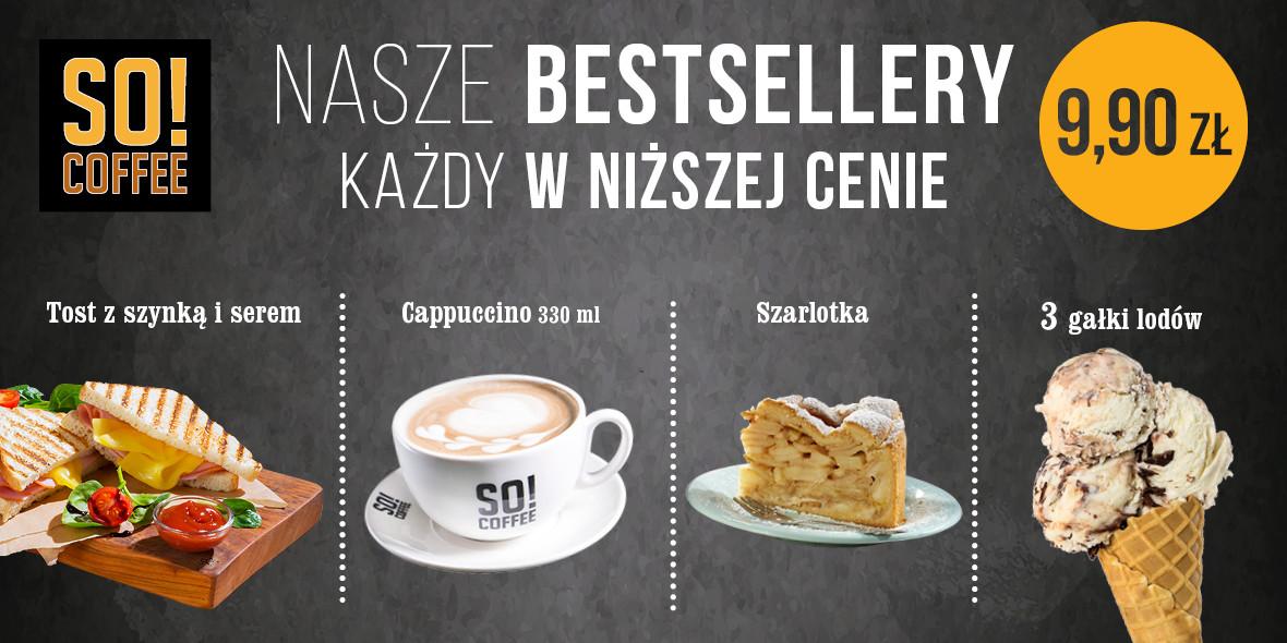 SO! COFFEE: 9,90 zł za Bestsellery 19.11.2019