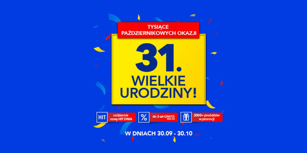 RTV EURO AGD: Do -1000 zł z okazji urodzin RTV Euro AGD 30.09.2021