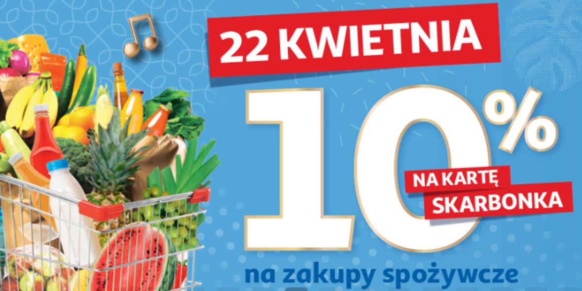 Auchan: 10% zwrotu na kartę Skarbonka na zakupy spożywcze 22.04.2021