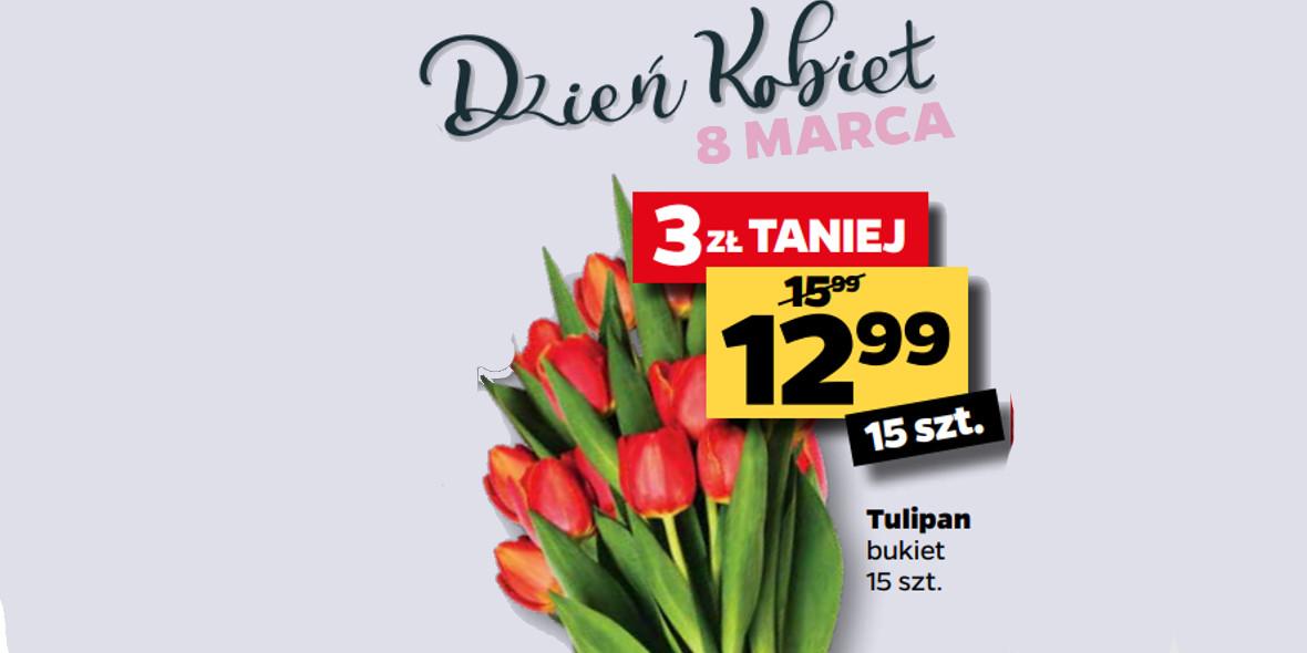 Netto: -3 zł za tulipany w bukiecie 01.02.2021