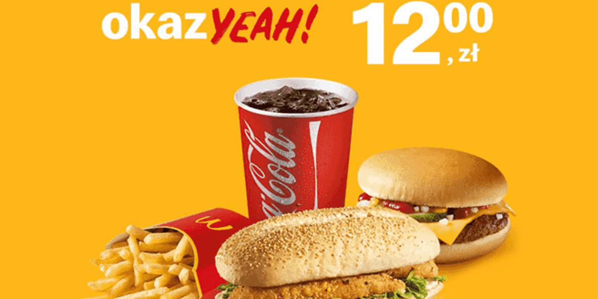 Chikker® + Cheeseburger + frytki + napój