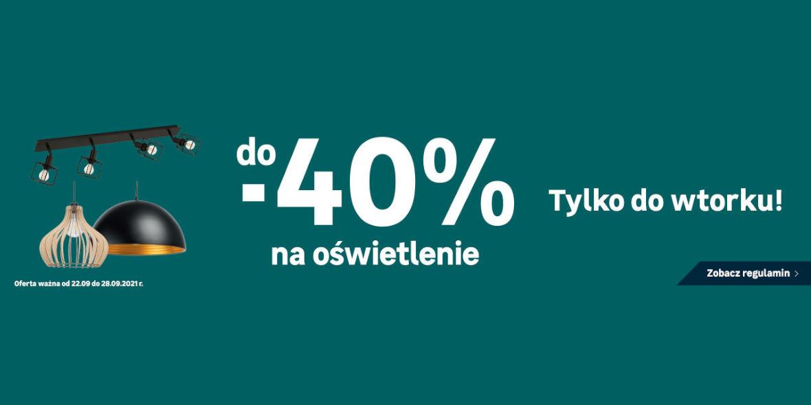 Leroy Merlin: Do -40% na oświetlenie 22.09.2021