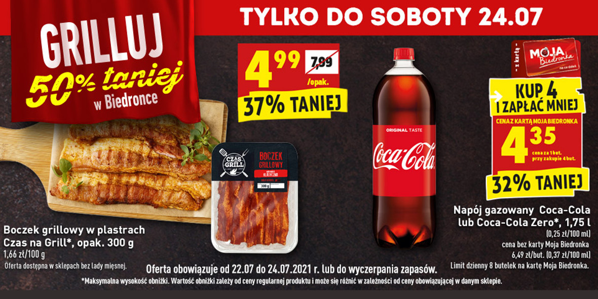 Biedronka:  -50% na produkty na grilla 22.07.2021