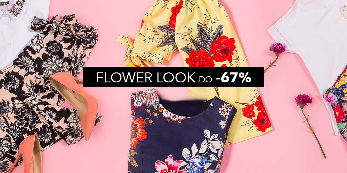 na odzież z motywem kwiatów