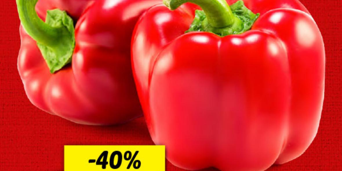 Lidl: -40% na paprykę czerwoną