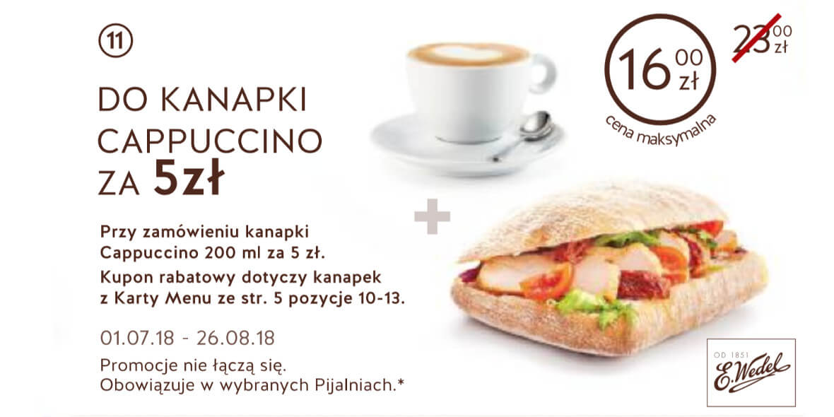 za Cappuccino do kanapki