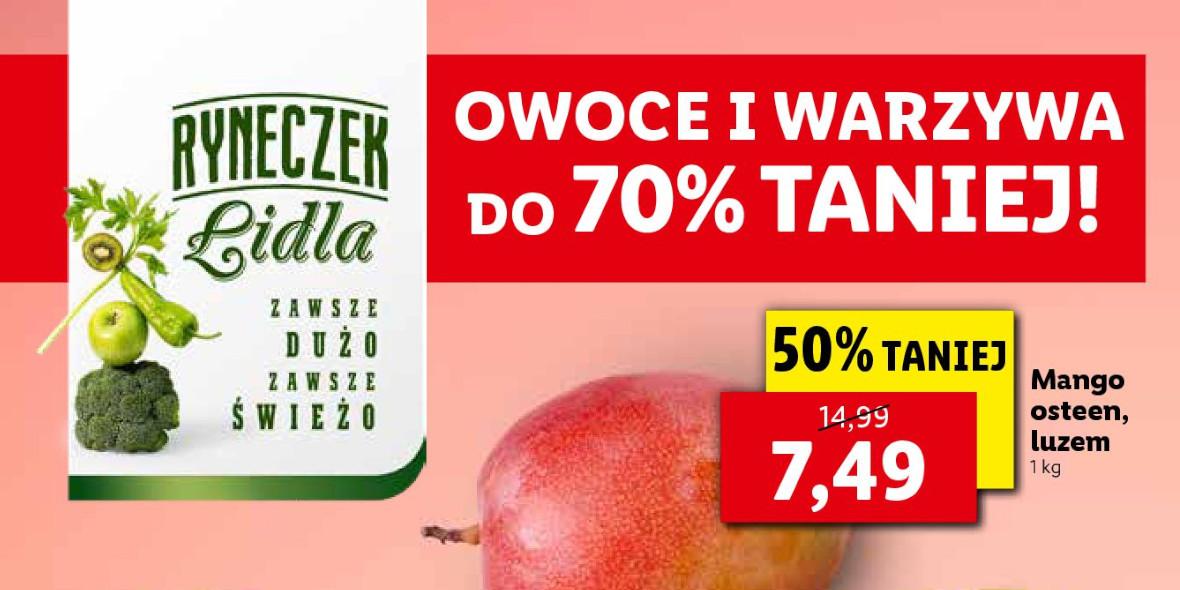 Lidl: Do -70% na owoce i warzywa 18.10.2021