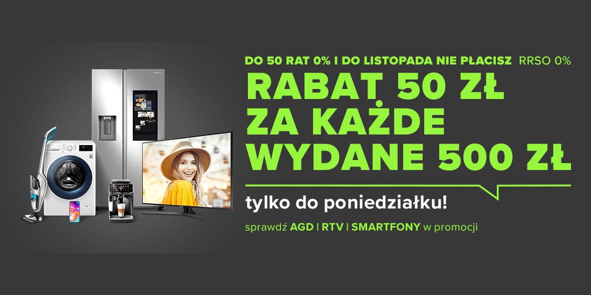 Neonet: -50 zł za każde wydane 500 zł 08.04.2021