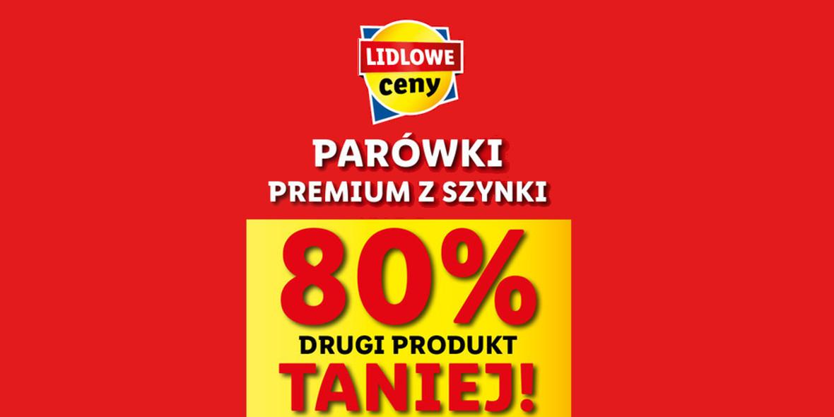 Lidl: -80% na parówki z szynki drugi produkt 19.04.2021