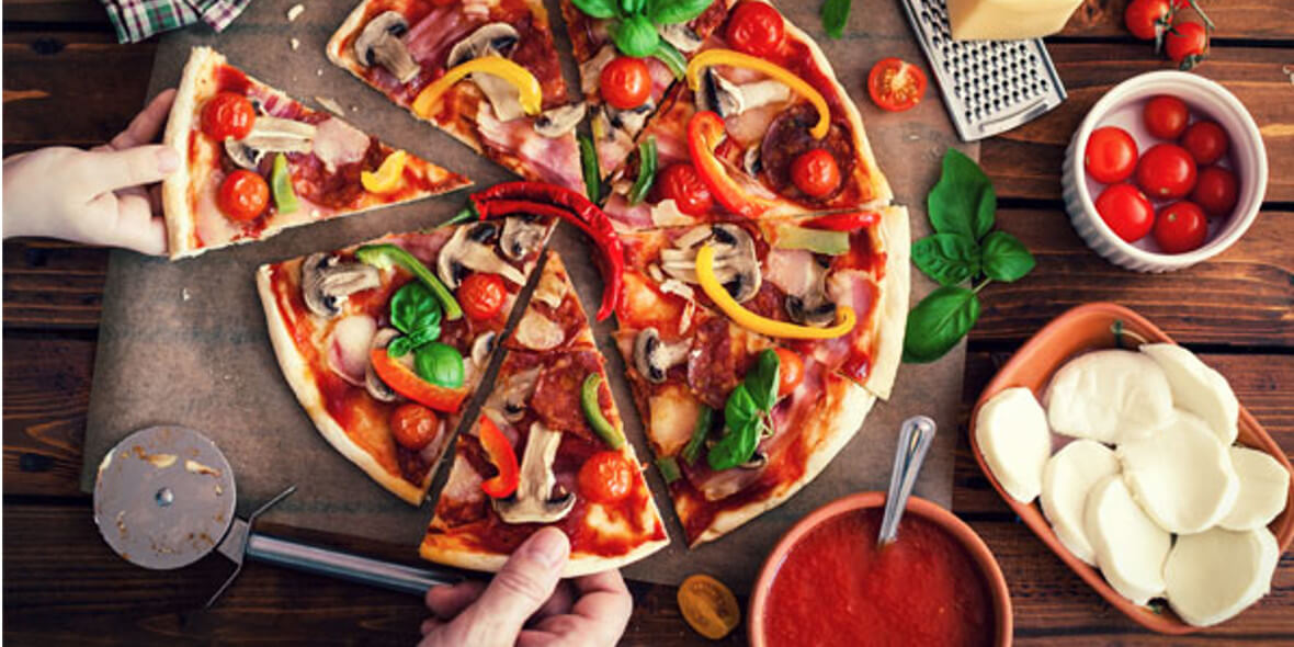 na wszystkie pizze