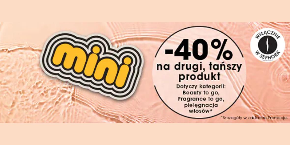 Sephora: -40% na drugi produkt 28.07.2021