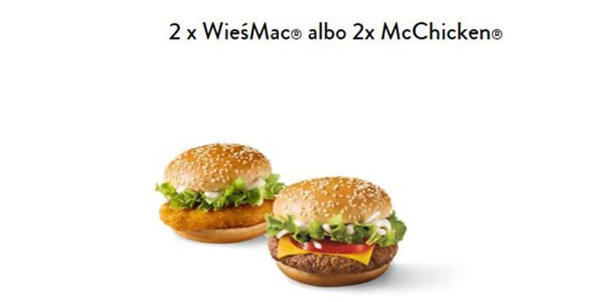 McDonald's: 14 zł 2 x McChicken® albo 2 x WieśMac® 01.01.0001