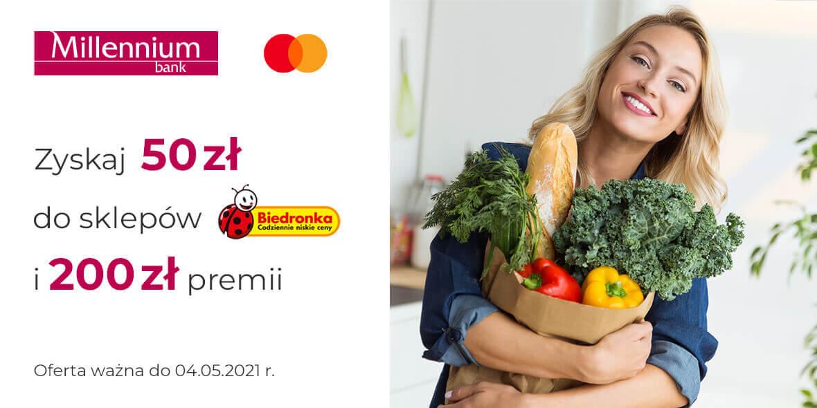 Bank Millennium S.A: Zyskaj 50 zł do sklepów Biedronka i 200 zł premii