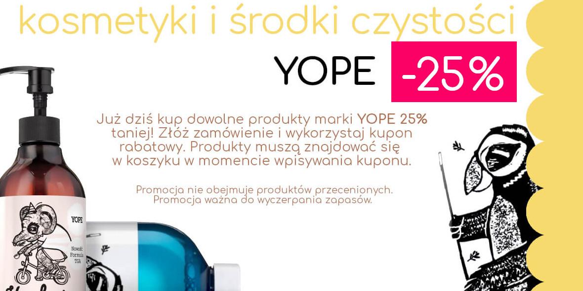 Biogo: Kod: -25% na kosmetyki i środki czystości YOPE