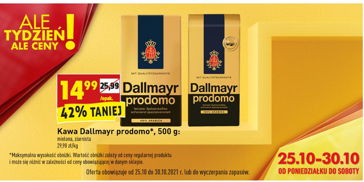 Biedronka: -42% na kawę Dallmayr prodomo 25.10.2021