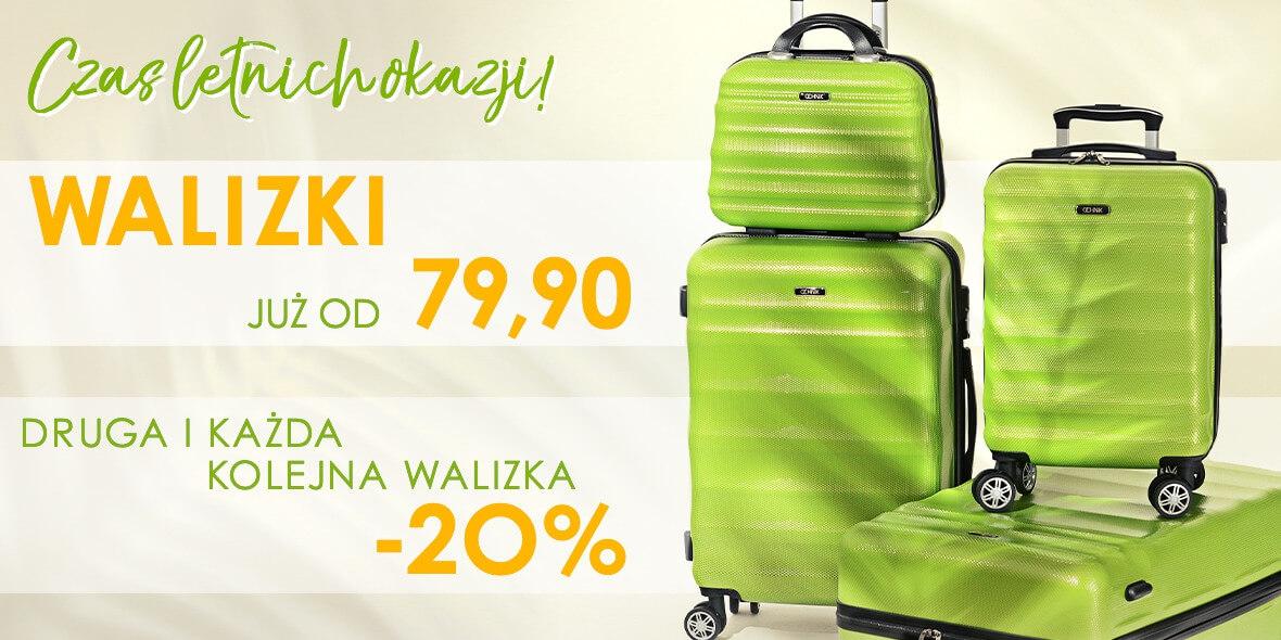 Ochnik: -20% na drugą i każdą kolejną walizkę w Ochnik 03.08.2021