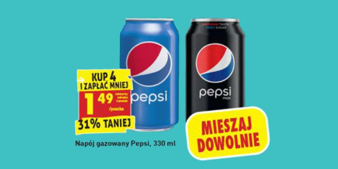 Biedronka: 1,49 zł przy zakupie 4 puszek Pepsi 18.01.2021