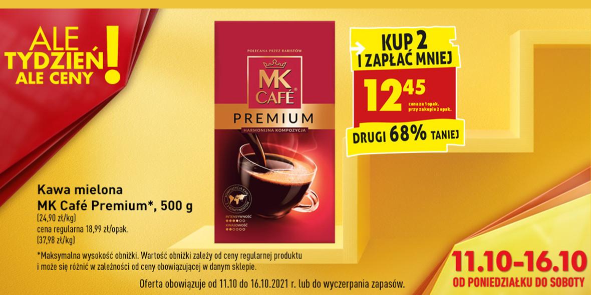 Biedronka: -68% na kawę mieloną  MK Café Premium 12.10.2021