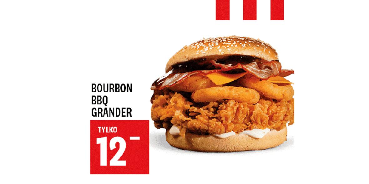 KFC: 12 zł Bourbon BBQ Grander 17.03.2021