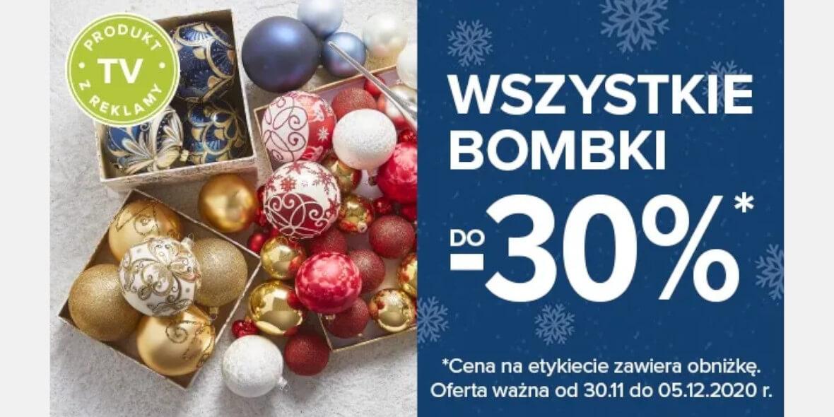 Carrefour: Do -30% na wszystkie bombki 03.12.2020