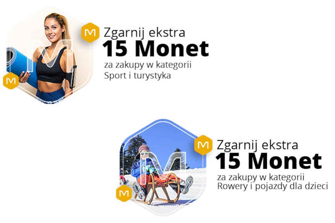 Allegro.pl: +15 Monet +15 Monet przy zakupach w wybranych kategoriach 25.01.2021